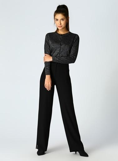 Beymen Studio Beymen Studio Zincir Detaylı Klasik Siyah Pantolon Siyah